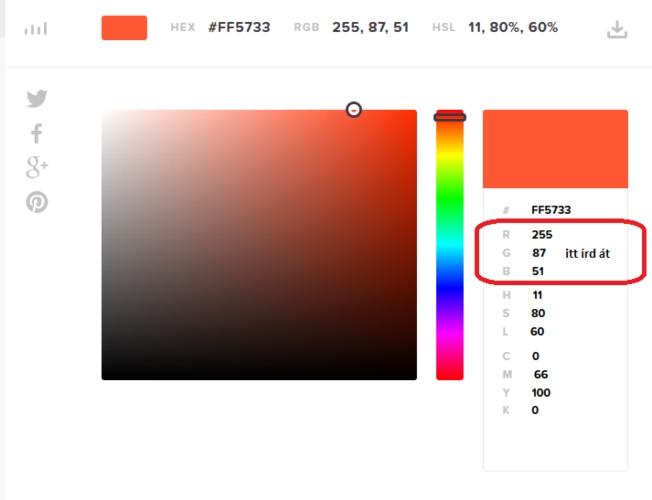 Digitális színkeverés piros