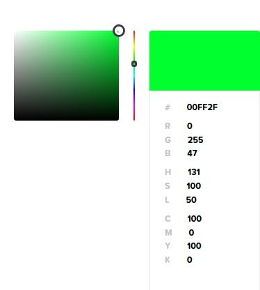 Digitális színkeverés zöld
